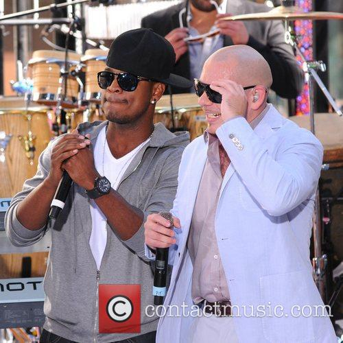 Ne-Yo and Pitbull The Toyota Concert Series at...