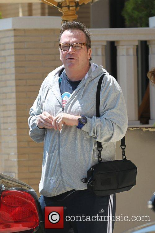 Tom Arnold is seen leaving Barneys New York...