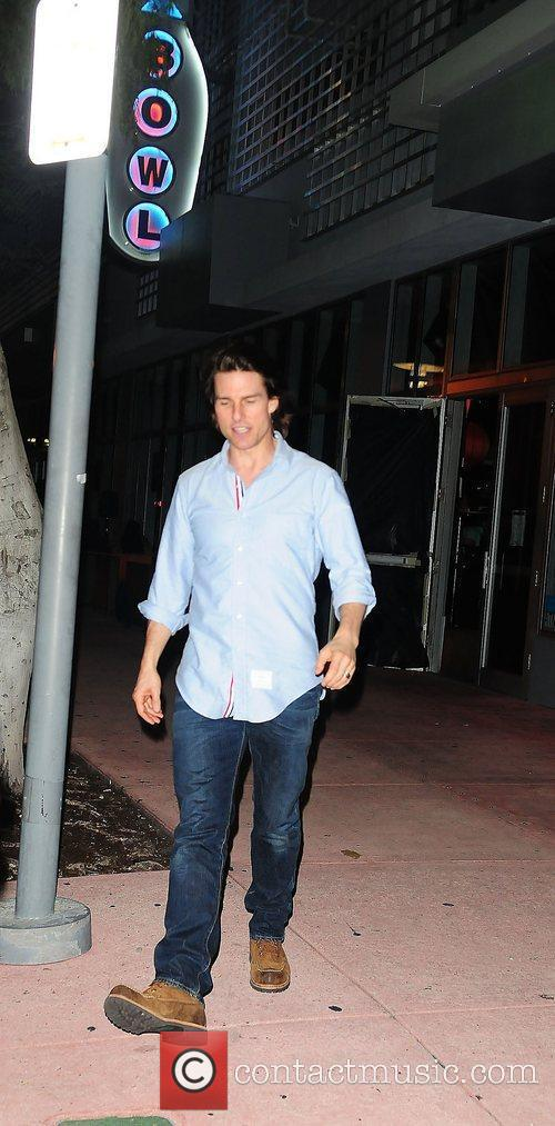 Tom Cruise leaving the wrap party for his...