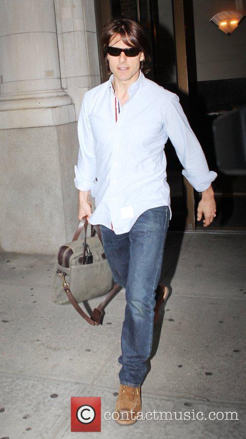 Tom Cruise  leaving his Manhattan apartment New...