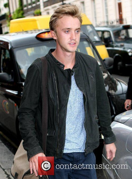 'Harry Potter' actor outside Claridge's Hotel