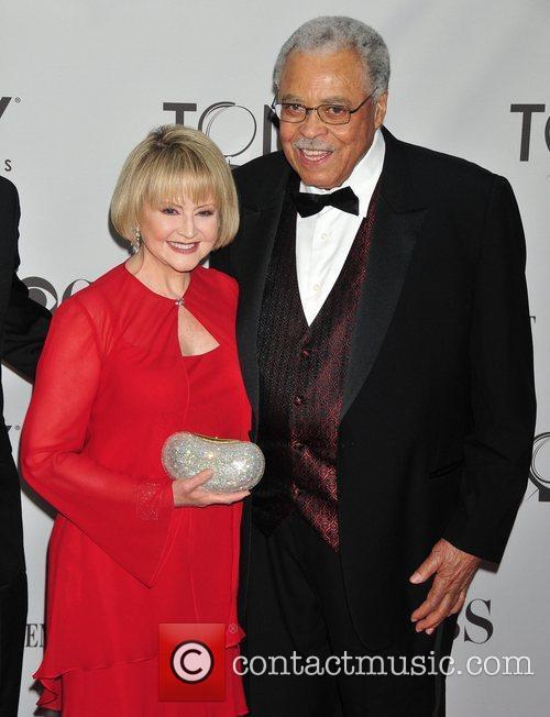 James Earl Jones (R.) and wife Cecelia Hart...