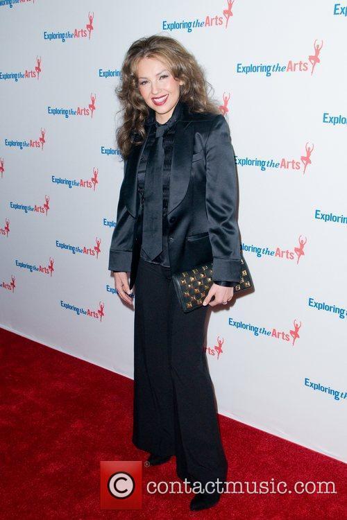 Thalia  attending the Tony Bennett 85th Birthday...