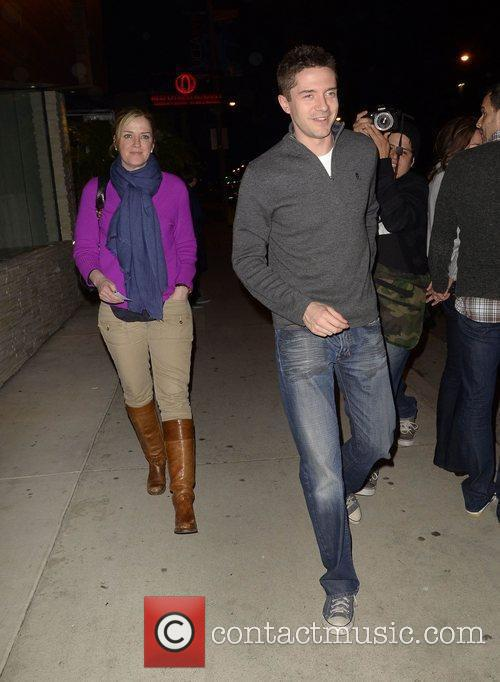 Topher Grace leaves Red O restaurant Los Angeles,...