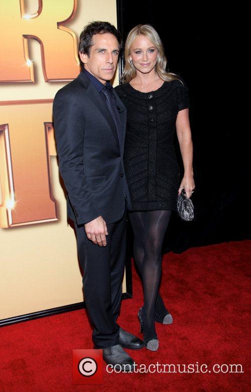 Ben Stiller, Christine Taylor and Ziegfeld Theatre 2