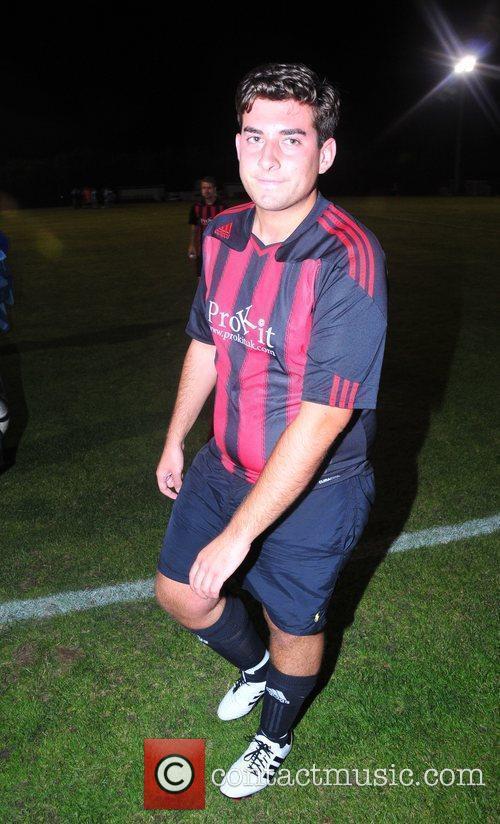 James Argent attending a celebrity football match between...