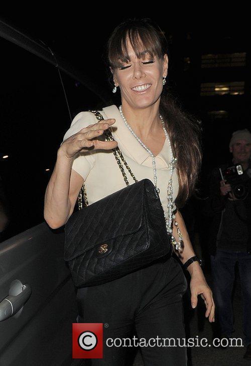 Tara Palmer-Tomkinson walking through Leicester Square, appearing rather...