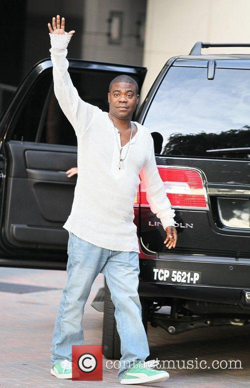 Tracy Morgan exits the CAA Entertainment Offices in...