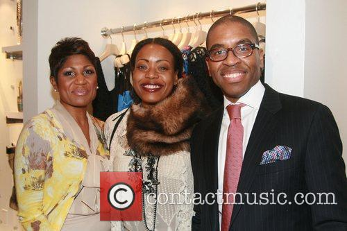 Jocelyn Taylor, Tracy Reese and AIDG Board Member...