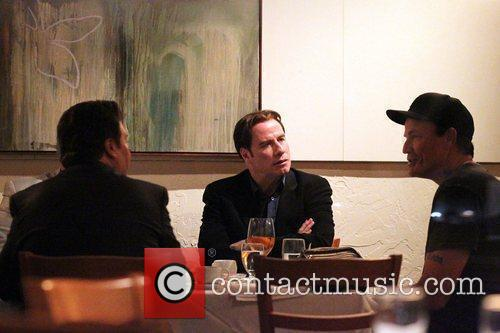 John Travolta at the Trattoria Amici Brentwood restaurant...