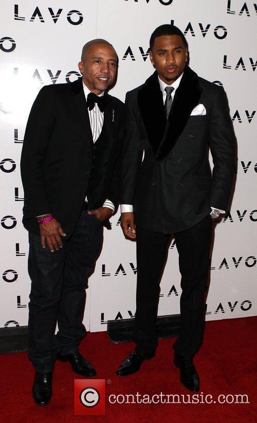 Kevin Liles and Trey Songz Trey Songz Celebrates...