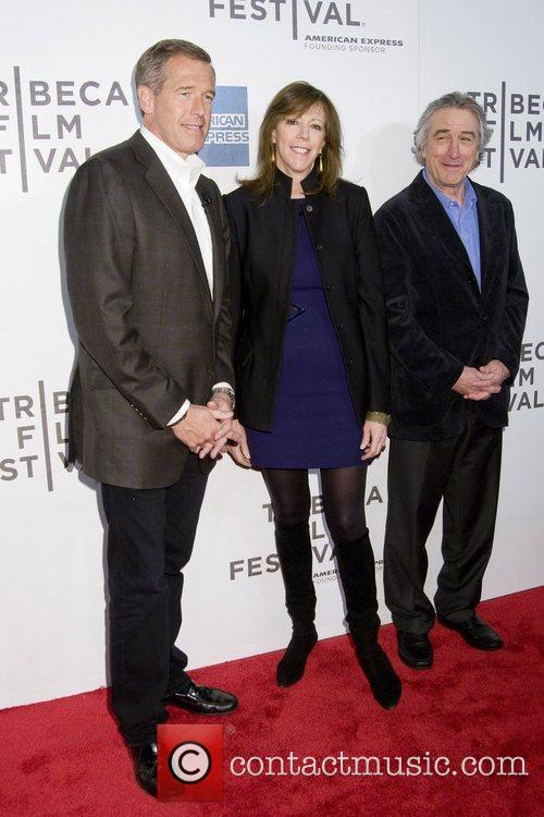 Brian Williams, Jane Rosenthal and Robert De Niro 2