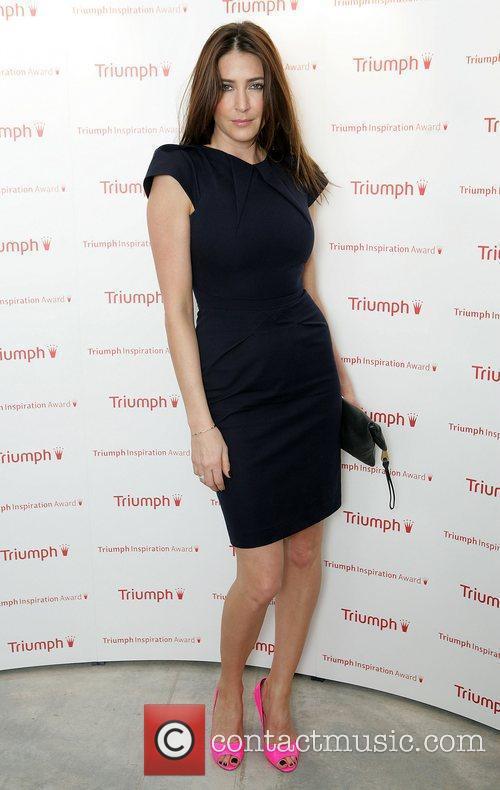 Lisa Snowdon arriving at the Triumph Inspiration Awards...