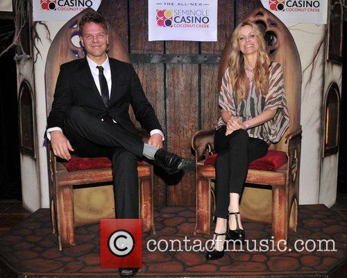 Jim Parrack and Kristen Bauer  of the...