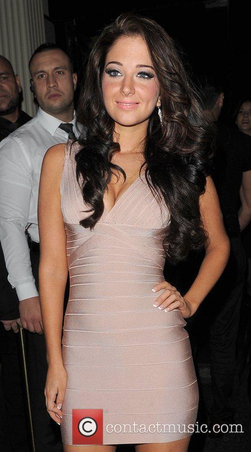 Tulisa Contostavlos arriving at Movida nightclub, to celebrate...