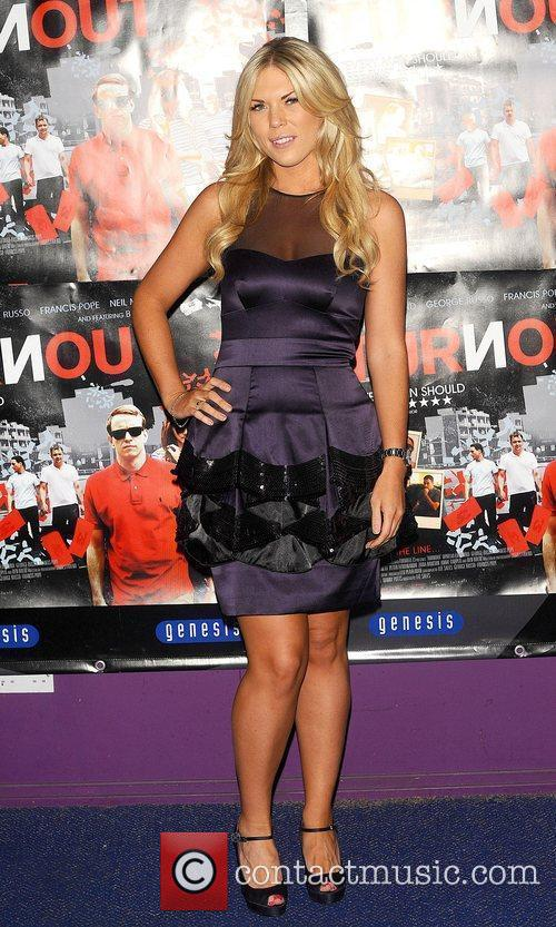 Frankie Essex at the UK film premiere 'Turnout'...