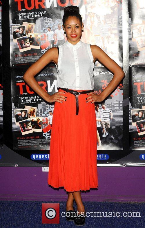 Riann Steele at the UK film premiere 'Turnout'...