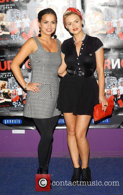 Ebony & Guest at the UK film premiere...