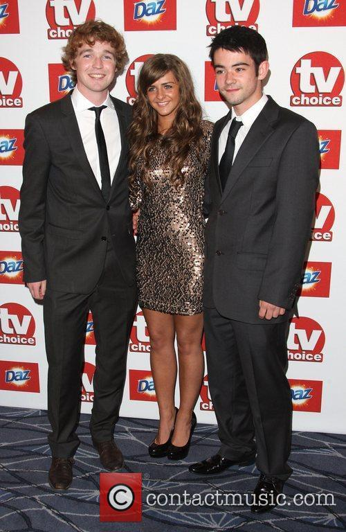 Rebecca Ryan and Jack Mcmullem TVChoice Awards 2011...