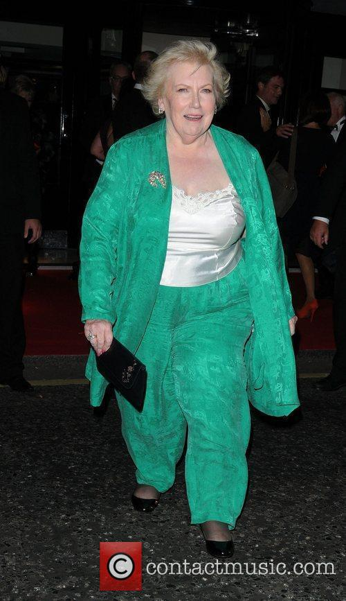 Denise Robertson leaving the TV choice awards London,...