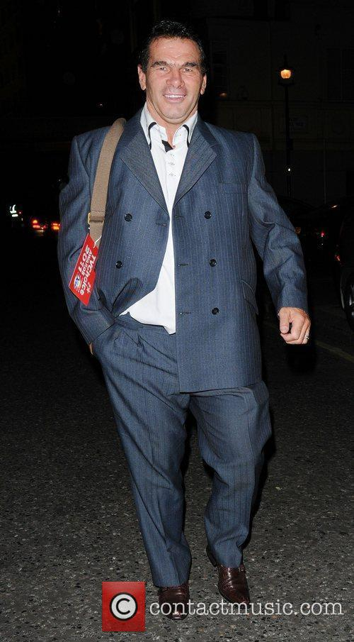 Paddy Doherty  leaving the TV choice awards...
