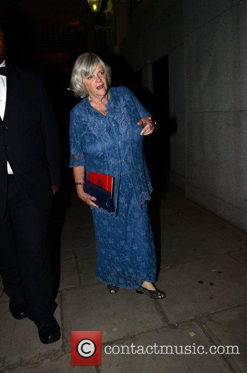 Anne Widdecombe  leaving the TV choice awards...