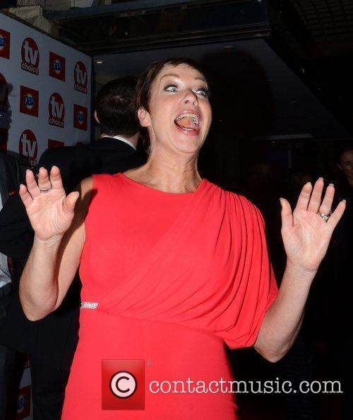 Denise Welch  leaving the TV choice awards...