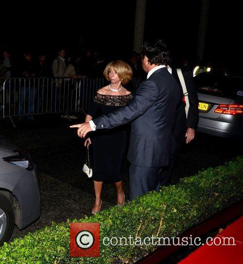 Helen Worth  leaving the TV choice awards...