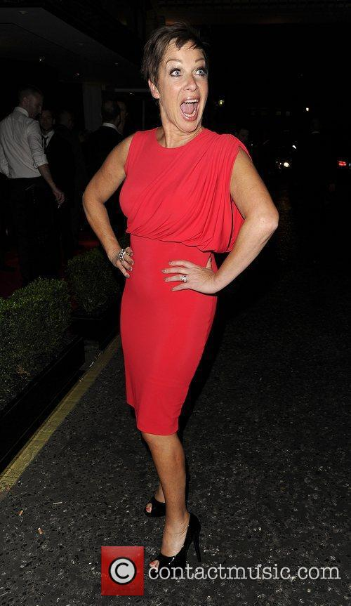 Denise Welch outside of the TV Choice Awards....