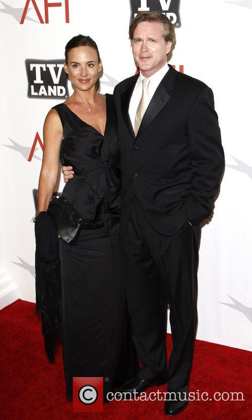 Cary Elwes and his wife Lisa Marie Kurbikoff...