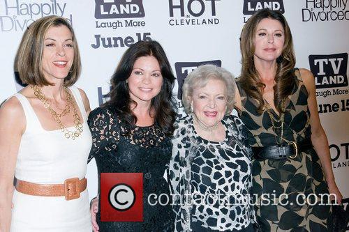 tv_land_party_03 'Hot In Cleveland' creator Suzanne Martin (2nd-R)...