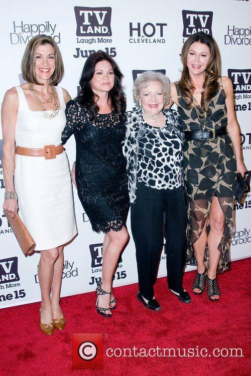 tv_land_party_14 'Hot In Cleveland' creator Suzanne Martin (2nd-R)...