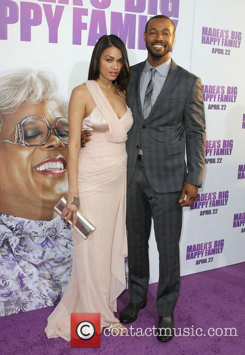 Tania Dawn and Isaiah Mustafa Los Angeles Premiere...