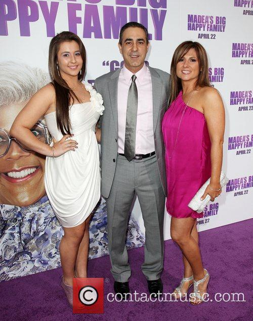 Producer Ozzie Areu and family Los Angeles Premiere...