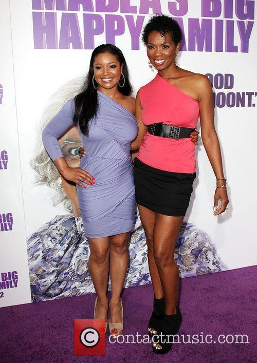 Tamala Jones and guest Los Angeles Premiere of...