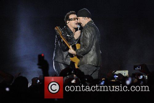 Paul Hewson 'Bono' and David Evans 'The Edge'...