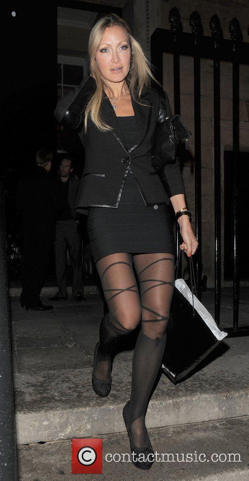Caprice Bourret leaving The UK Lingerie Awards 2011,...