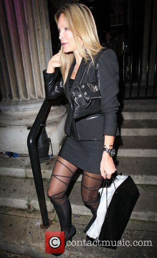 Caprice Bourret leaving The UK Lingerie Awards held...