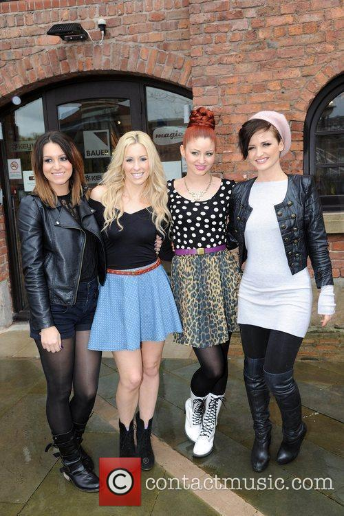Ultra Girls visit Key 103 radio station Manchester,...