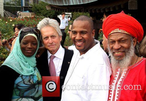 Michael Douglas and UN guests 30th anniversary ceremony...