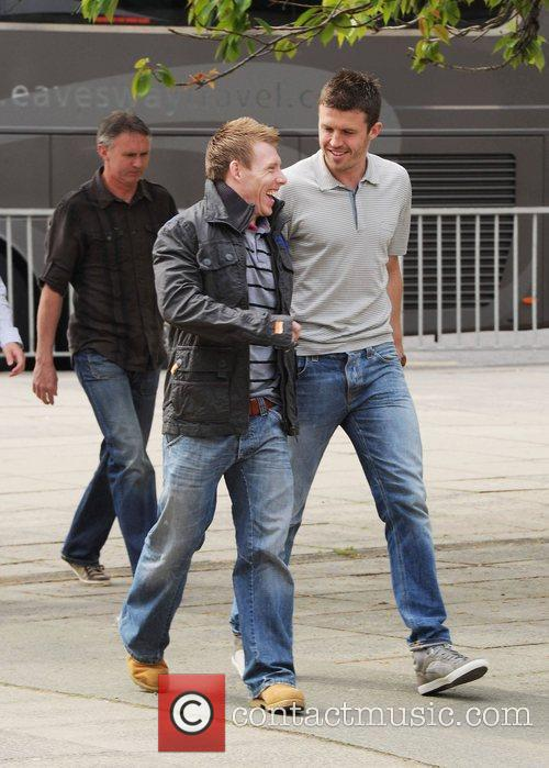 Michael Carrick (R)  The Manchester United first...