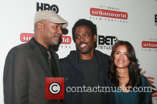 Nelson George, Chris Rock and Diane Paragas...