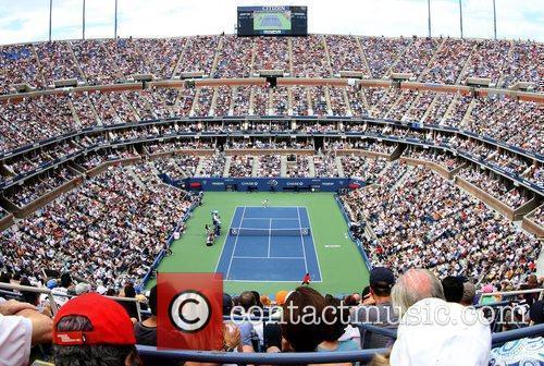 Atmosphere  The US Open tennis semi-final match...