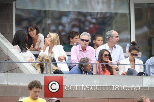 Catherine Zeta Jones and husband Michael Douglas...