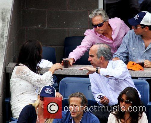 Michael Douglas and wife Catherine Zeta Jones...