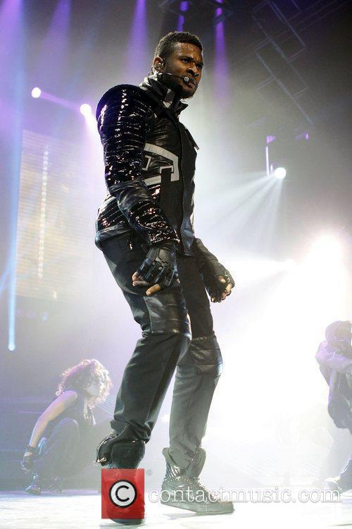 Usher  performing at the National Indoor Arena...