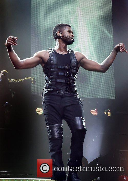 Usher performing at the Manchester MEN Arena on...
