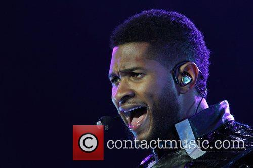 Usher  performs live at the Adelaide Entertainment...