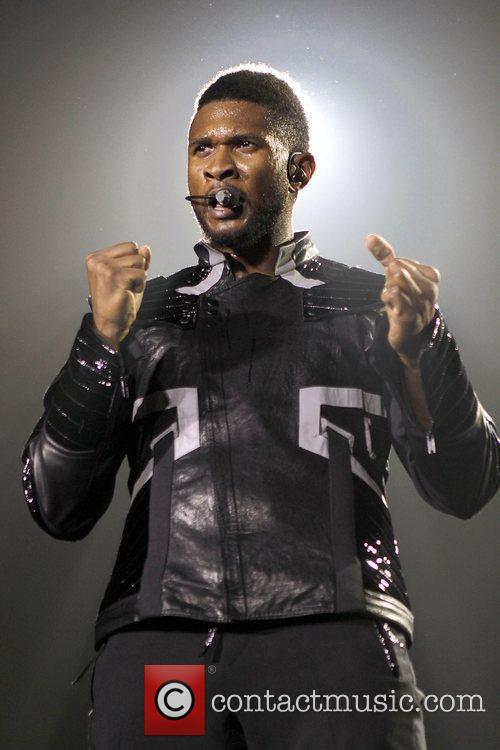 Usher performing live in concert at The O2...