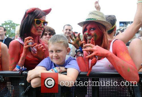Guests at V Festival in Weston Park, Stafford,...
